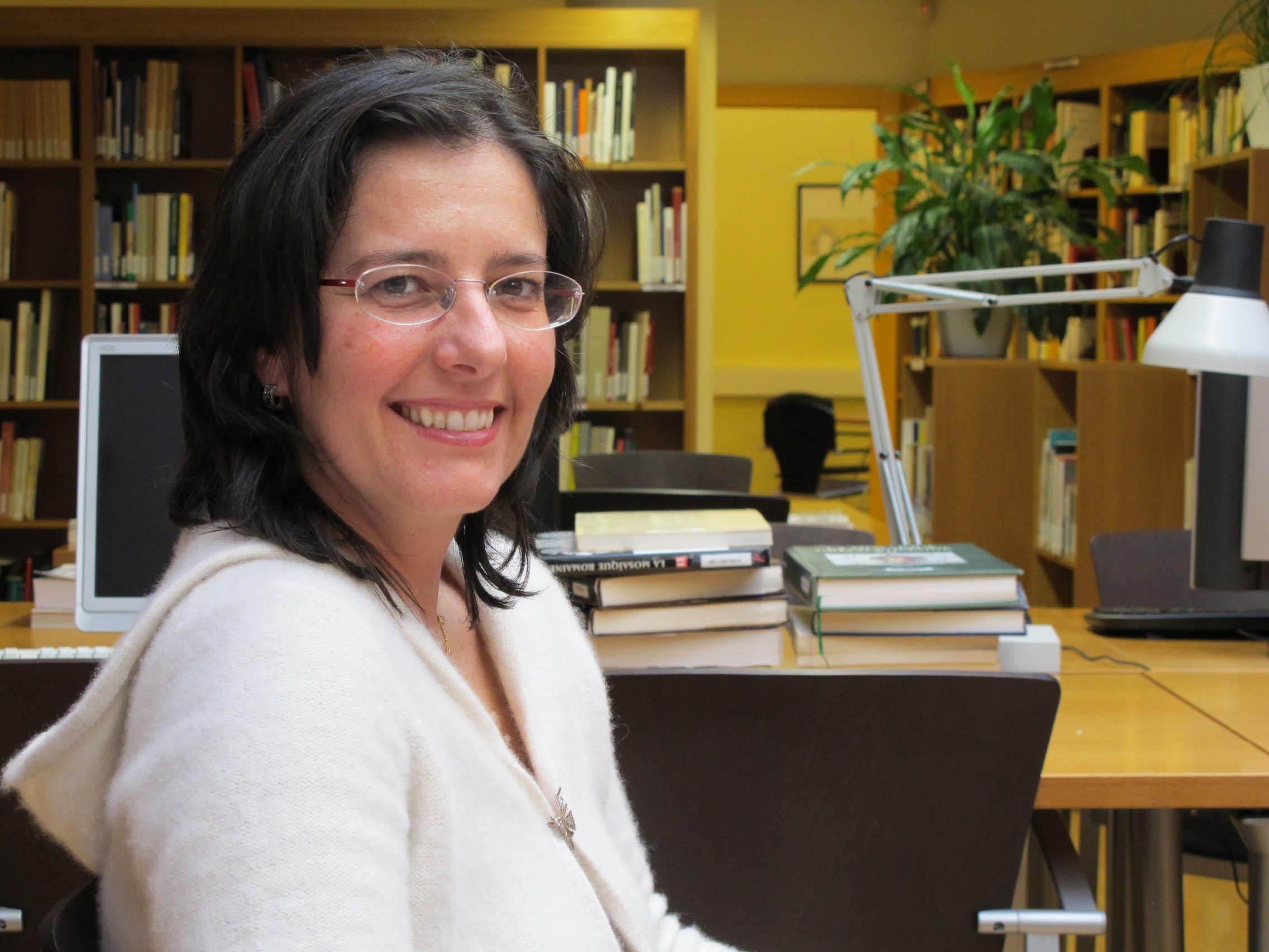 Prof. Marzano a la biblioteca de l'ICAC