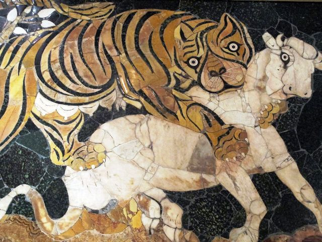 Tigre opus sectile